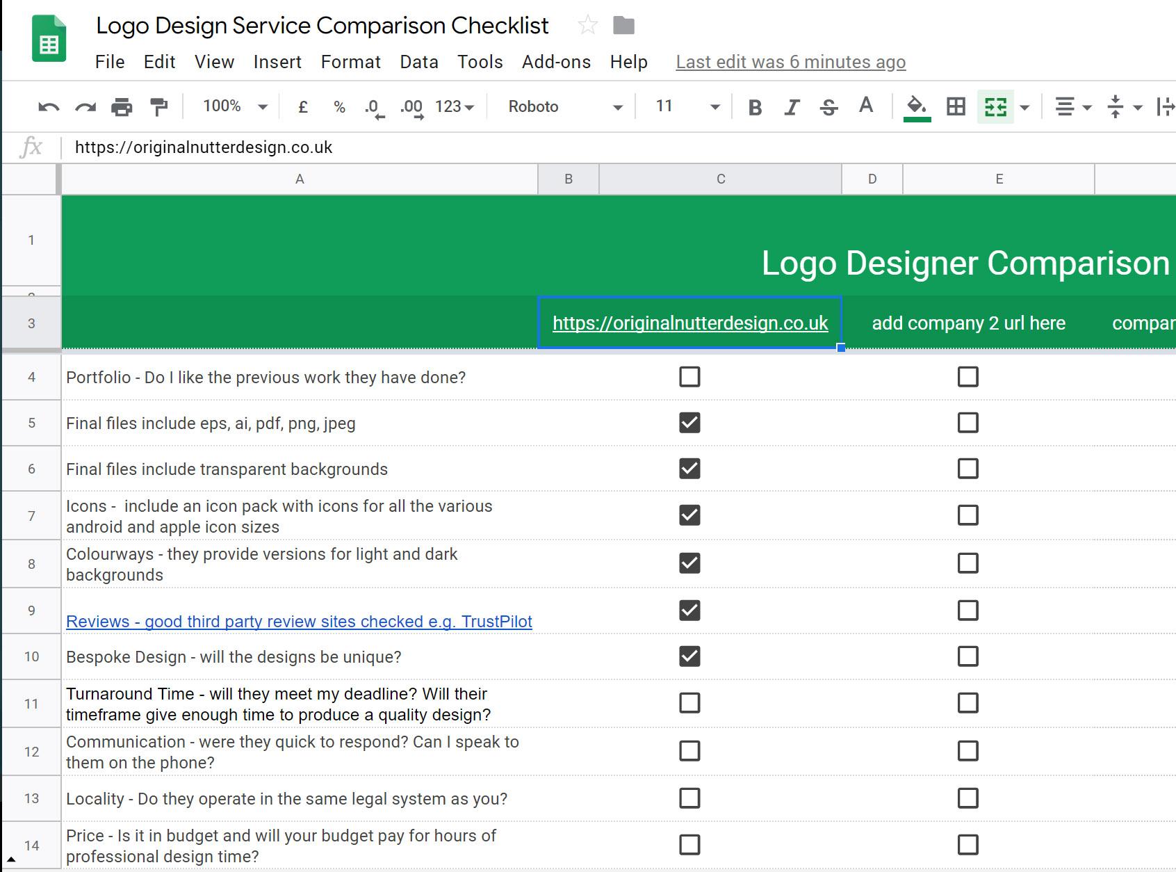 Logo design checklist