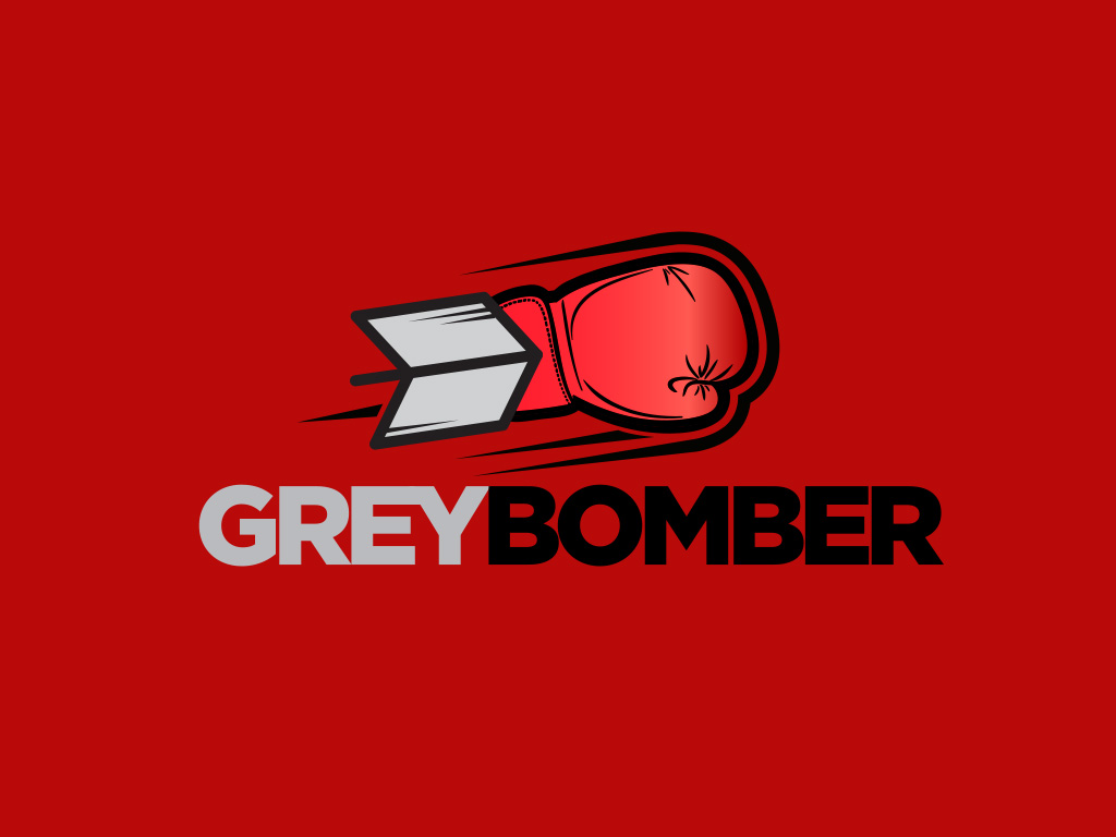 grey bomber boxing logo